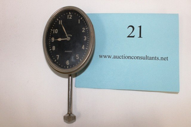 21: DASHBOARD CLOCK, JAEGER, 8 DAY, GOOD CONDITION, 6.5