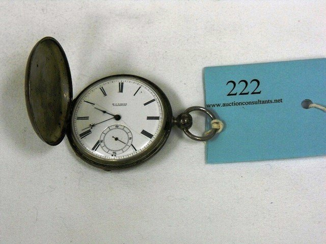 222: HUNTERS POCKET WATCH, PATENT LEVER, FULL JEWELLED,