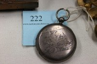 222: HUNTERS POCKET WATCH, PATENT LEVER, FULL JEWELLED, - 2