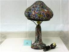 283: MILLEFIORI LAMP, 10 X 17IN.