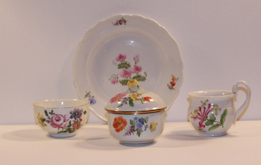 4: Four Piece Meissen Porcelain Grouping