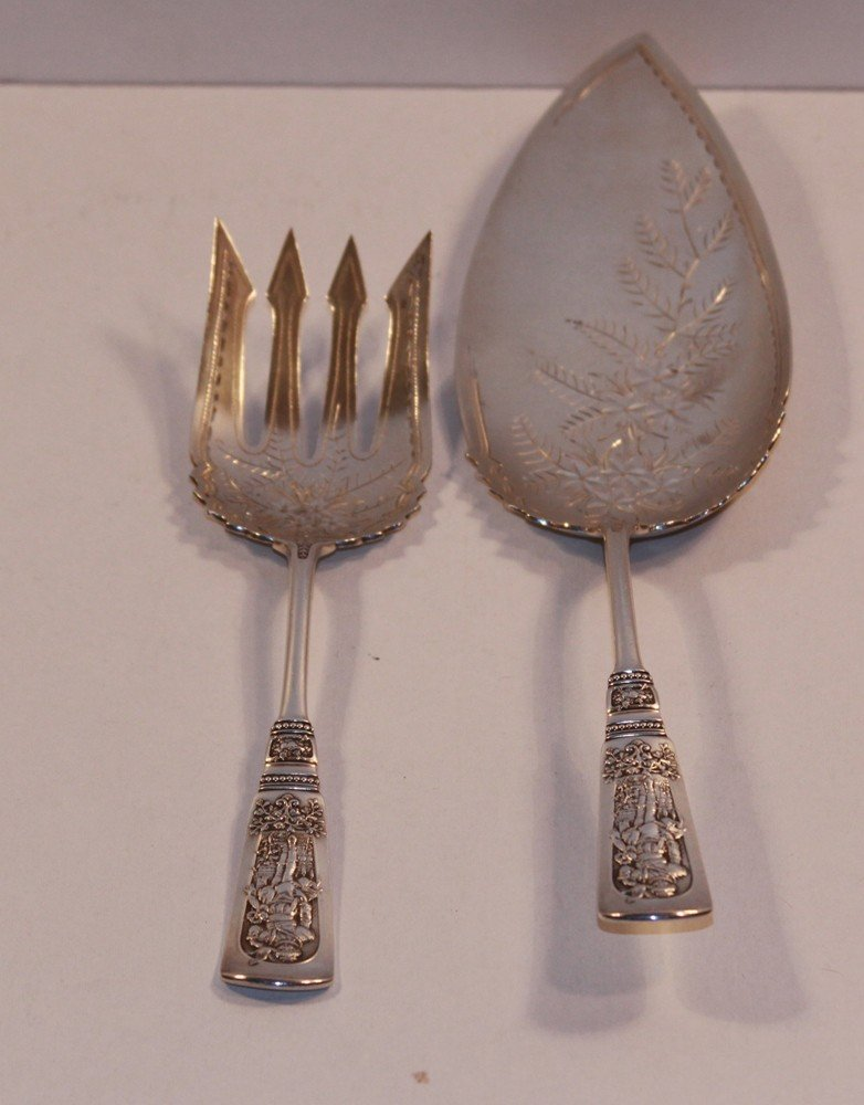 193: Sterling Silver Meat Fork and Pie Server