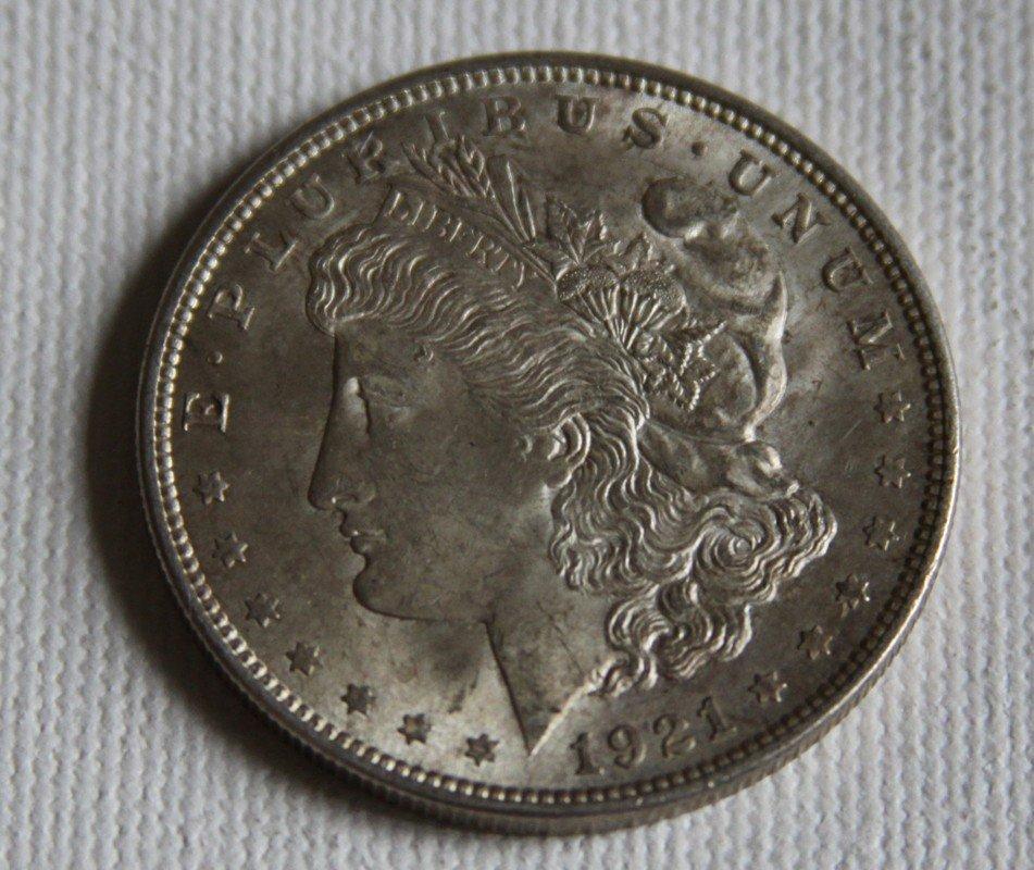 1: 1921 Morgan Silver Dollar