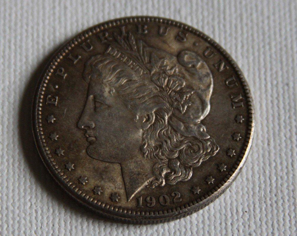 """2: 1902 """"O"""" Morgan Silver Dollar"""