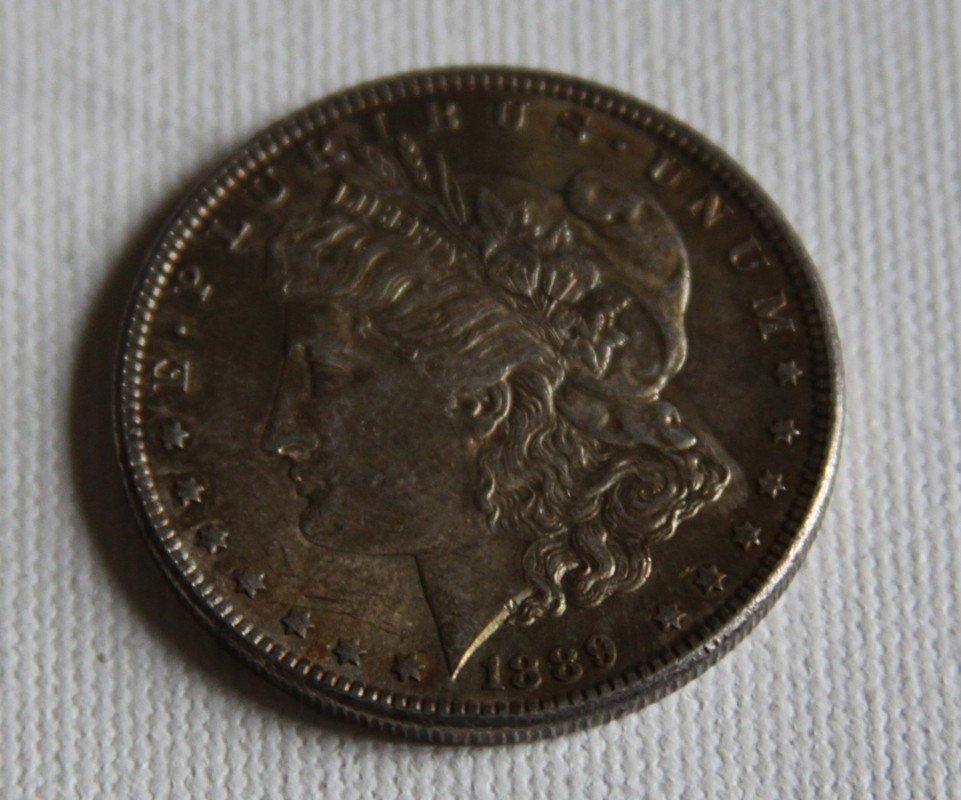 3: 1889 Morgan Silver Dollar