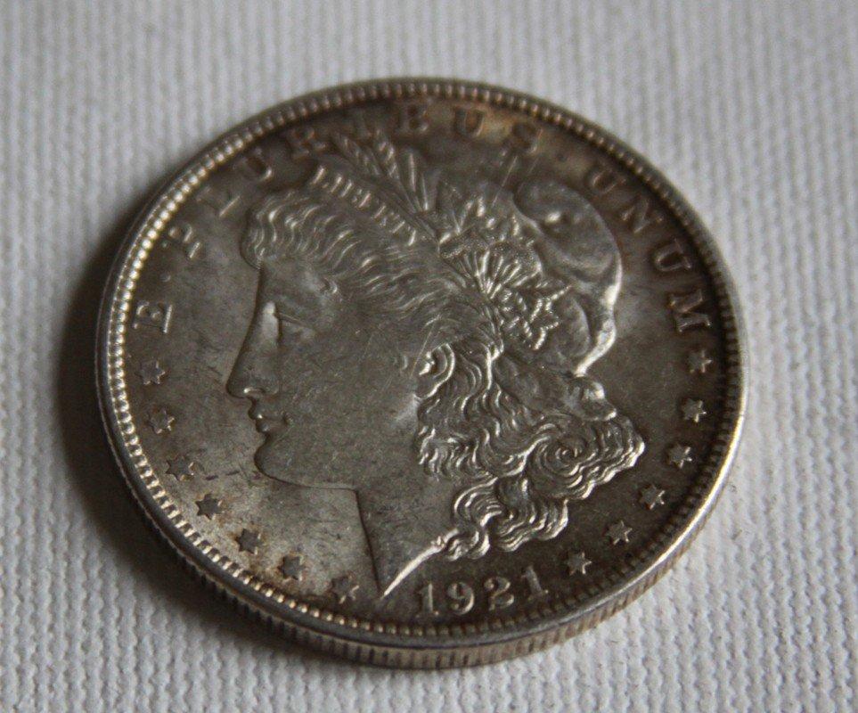7: 1921 Morgan Silver Dollar
