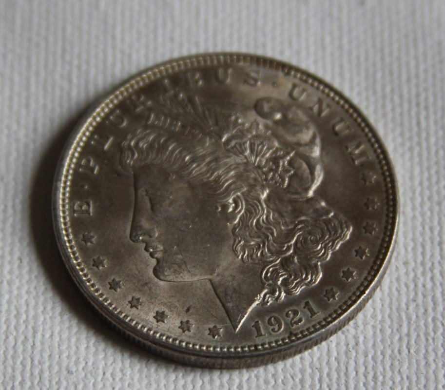 9: 1921 Morgan Silver Dollar