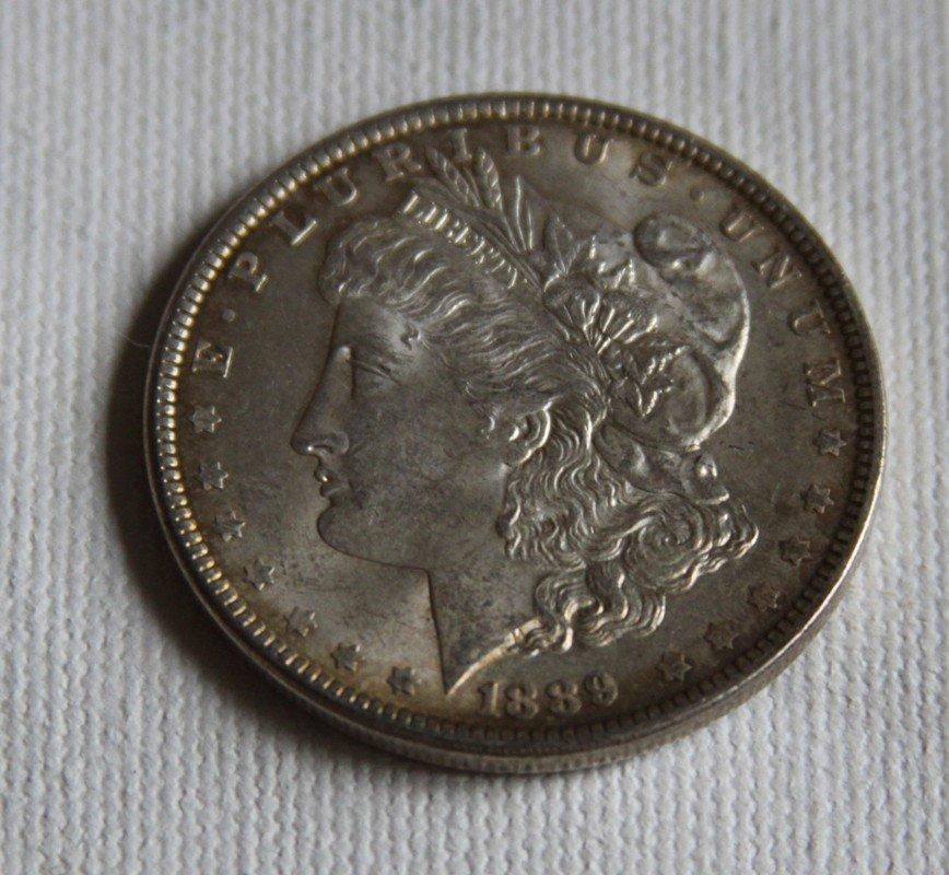 14: 1889 Morgan Silver Dollar