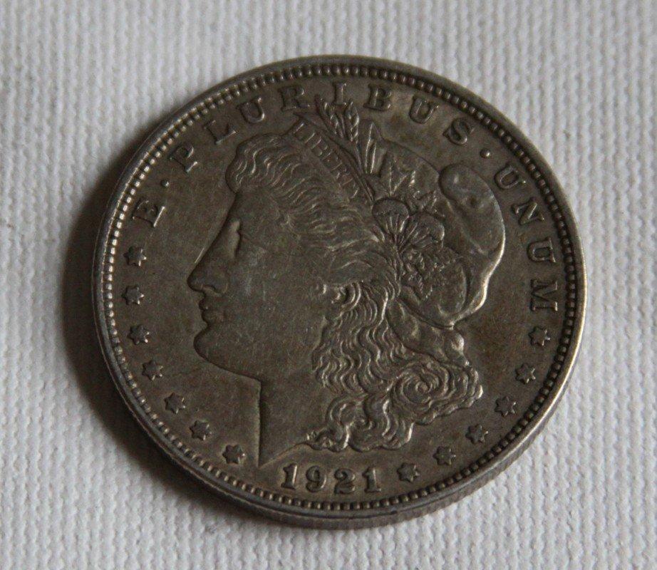 15: 1921 Morgan Silver Dollar