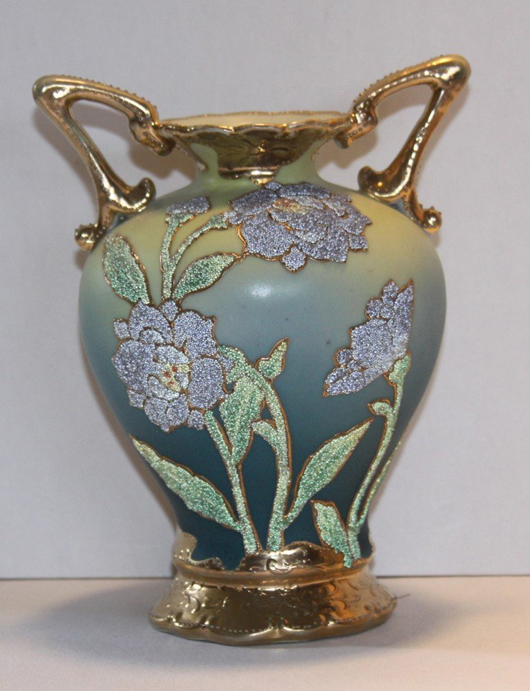 4: Nippon Coralene Vase