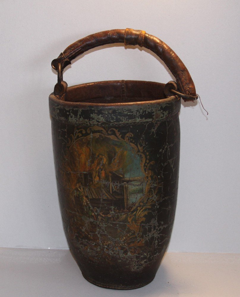 9: Early Leather Fire Bucket