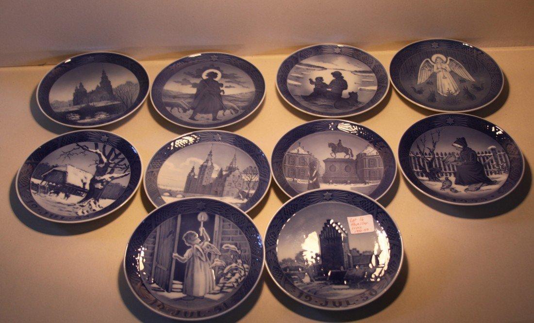 16: Royal Copenhagen Christmas Collector plates 1950-59