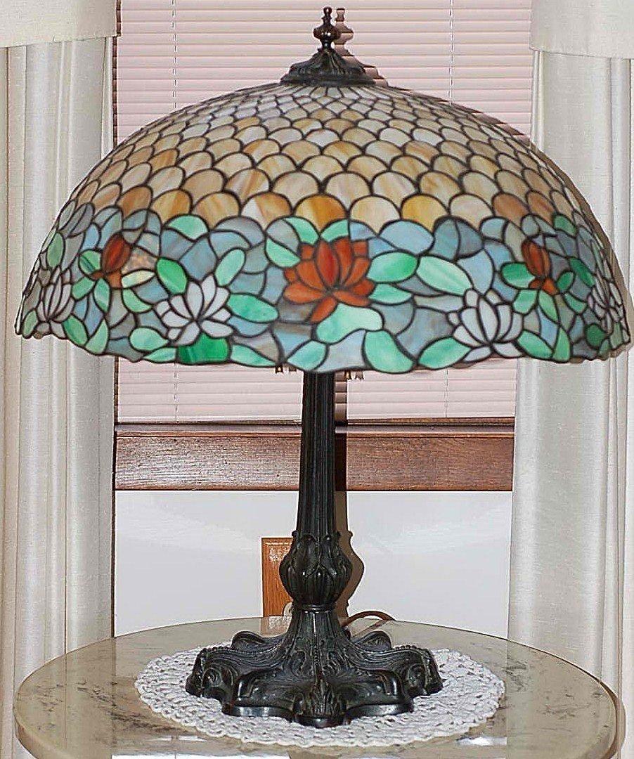 """186:  Chicago Mosaic, """"Mosaic Shade Company,"""" Lamp - 4"""