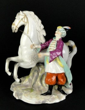 MEISSEN LARGE 19C GROUPING