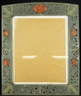 4: ANTIQUE JADE AND CARNELLIAN FRAME