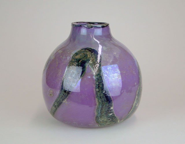5: HUGE BULBOUS ART GLASS VASE