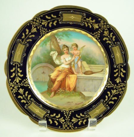 9: ROYAL VIENNA HAND PAINTED PLATE