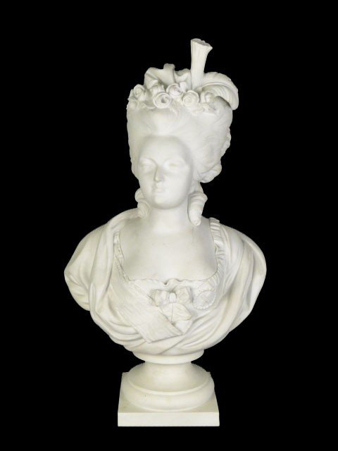 99: LARGE ANTIQUE PARIAN BUST OF MARIE FEDEROW