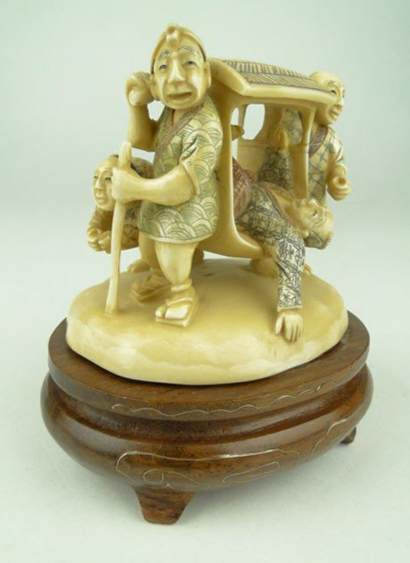 6: ANTIQUE CHINESE WHIMSICAL IVORY GROUPING