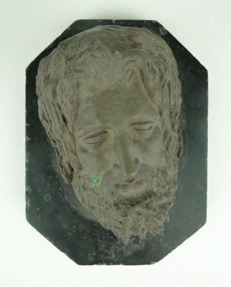 16: FRATIN CRISTOPHE BRONZE HEAD OF ZEUS