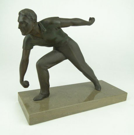 23: 1930'S FRENCH BRONZE PILOTE PLAYER