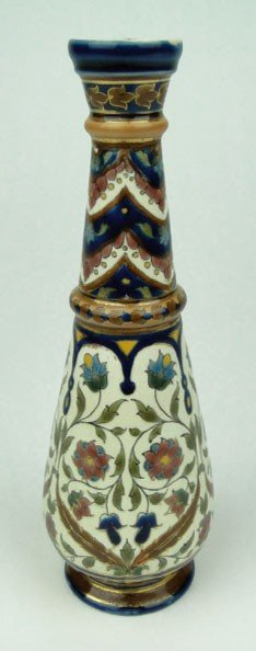 11: ANTIQUE ZSOLNAY HAND PAINTED VASE