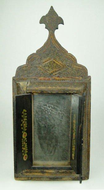 13: 18TH CENTURY TIBETAN CLOSE DOOR MIRROR