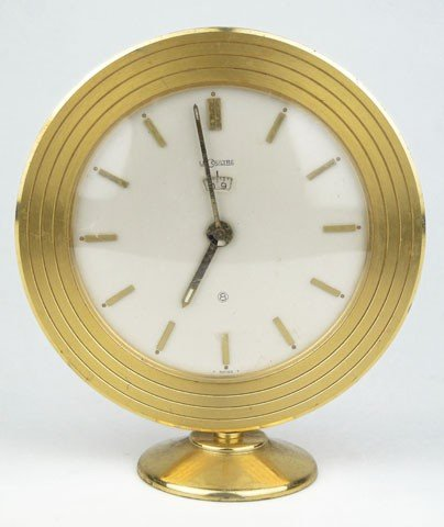 15: LE COULTRE BRONZE 8 DAY CLOCK