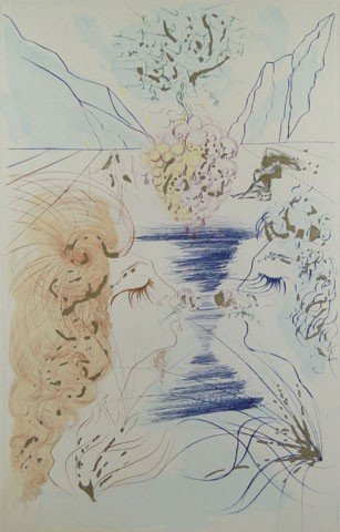 18: SALVADORE DALI ARTIST PROOF THE KISS