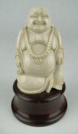 9: ANTIQUE CHINESE IVORY HAPPY BUDDHA