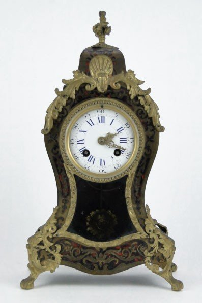 3: ANTIQUE FRENCH BOULLE  ACAPLHIAN & BEAUMETZ CLOCK