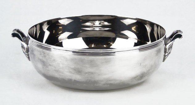 9: HEAVY CHRISTOFLE DOUBLE HANDLE BOWL