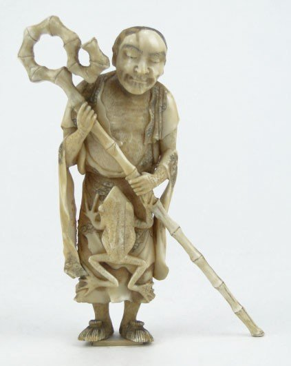 12: ANTIQUE CHINESE IVORY ELDER GAMMA SENI
