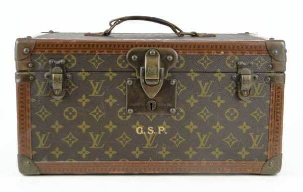 101: VINTAGE FRENCH LOUIS VUITTON HARDSIDE CANVAS CASE