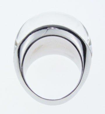 65: SUPERB 18KT WHITE GOLD DIAMOND & ROCK CRYSTAL RING - 3