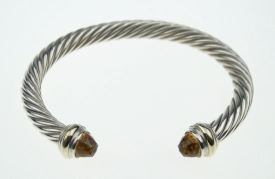 131: DAVID YURMAN STERLING AND 14KT CITRINE BRACELET