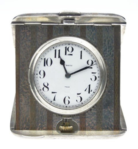 132: STERLING SWISS MADE 8 DAY CLOCK