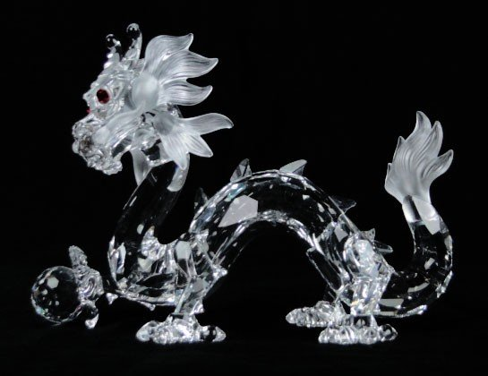 143: RARE SWAROVSKI CRYSTAL DRAGON A CLUB PIECE