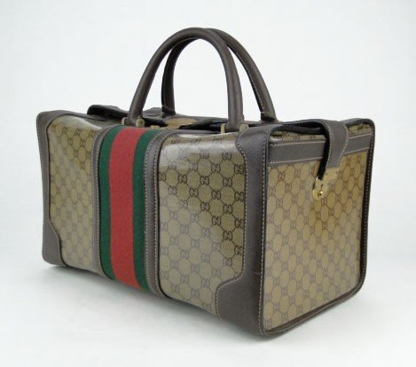 6: GUCCI LARGE SQUARE OVERNIGHT BAG