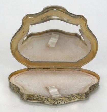 1: ANTIQUE ENAMELED CONTINENTAL LADIES COMPACT - 2