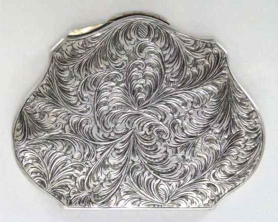 1: ANTIQUE ENAMELED CONTINENTAL LADIES COMPACT - 4