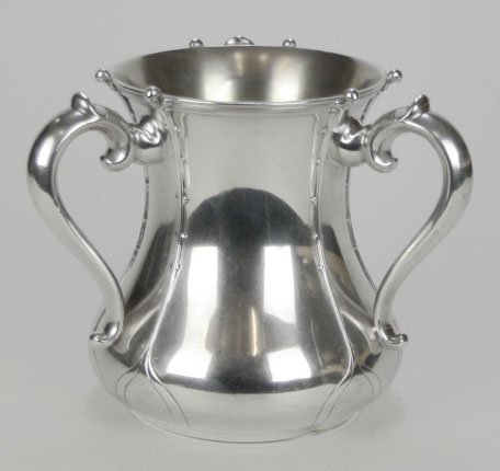 5: ANTIQUE TIFFANY & CO STERLING SILVER LOVING CUP - 2