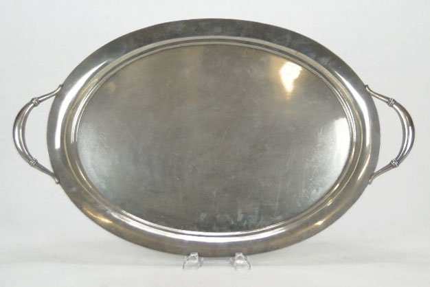 13: LARGE ROYAL DANISH STERLING SILVER TRAY
