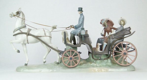 42: RARE LLADRO HANSOM CARRiAGE #1225