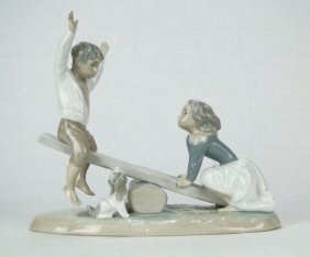"LLADRO PORCELAIN FIGURINE ""SEESAW"""