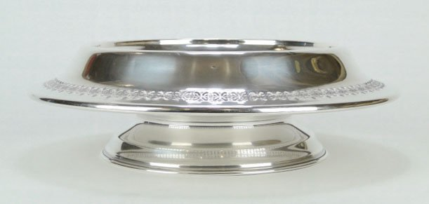 130: UNUSUAL LG RETICULATED STERLING SILVER BOWL