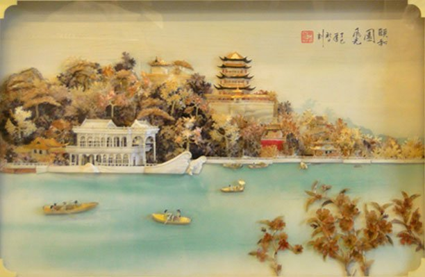 "12: CHINESE DIORAMA ""SUMMER PALACE"" EARLY TO MID 20C"