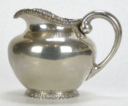 1: ANTIQUE J.E. CALDWELL & CO STERLING SILVER PITCHER
