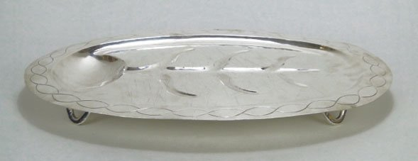 4: LARGE STERLING SILVER MEAT WELL TRAY