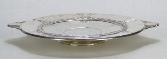 6: GORHAM ART DECO FRANCONIA STERLING SILVER ROUND FOOT